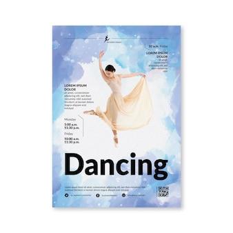 Tanzende plakatschablone