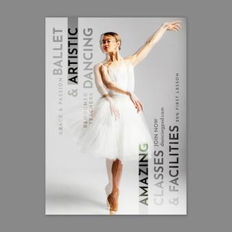 Tanzende vertikale flyer-vorlage
