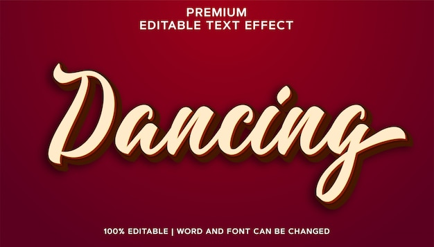 Tanzskript - bearbeitbarer texteffektstil