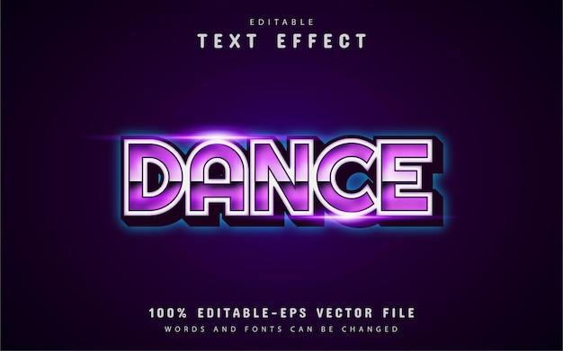 Tanztext, lila texteffekt im 80er-jahre-stil