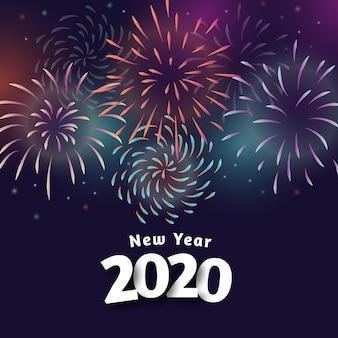 Tapete des neuen jahres 2020 der feuerwerke