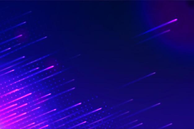Tapete mit abstrakten neonlichtern