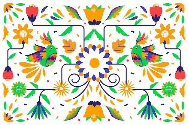 Tapete mit mexikanischem design