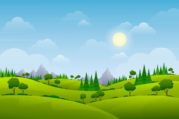Tapete mit naturlandschaftsthema