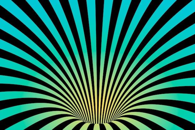 Tapete psychedelisches optisches täuschungskonzept
