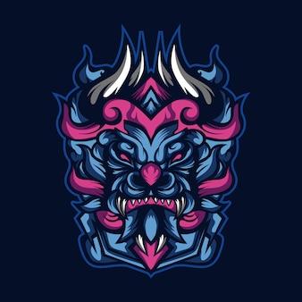 Tapfere blaue monster