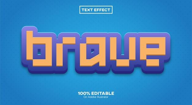 Tapferer texteffekt isoliert auf blau