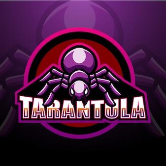 Tarantula maskottchen esport illustration