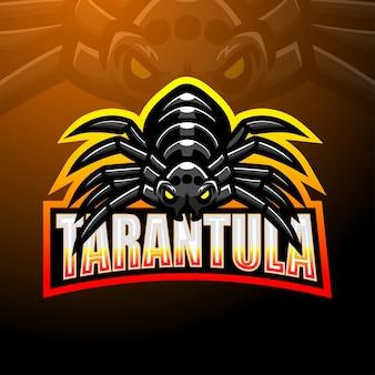 Tarantula maskottchen esport logo design