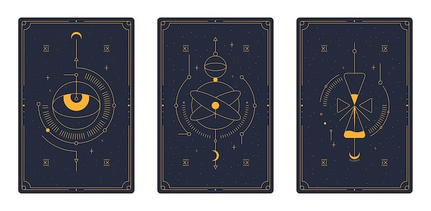 Tarot-karten. magie okkult.