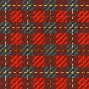 Tartan, kariertes nahtloses schottisches muster in den farben schwarz, rot und gelb.