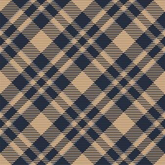 Tartan nahtloses muster. retro stoff. vintage geometrische textur. diagonaldrucktextil