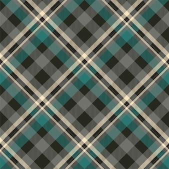 Tartan schottland nahtloses karomuster. retro hintergrundstoff. quadratische geometrische textur der weinleseprüfungfarbe für textil
