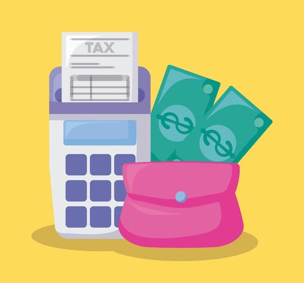 Tasche mit wirtschaft und finanzen