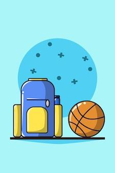 Tasche und basketball