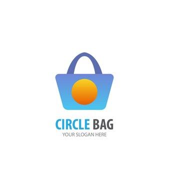 Taschenlogo für geschäftsunternehmen. einfaches taschen-logo-ideen-design. corporate-identity-konzept. kreatives taschensymbol aus der zubehörkollektion.