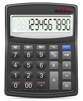 Taschenrechner-vektor-illustration
