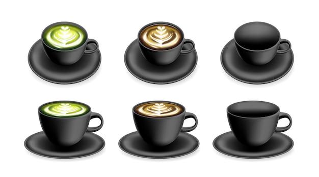 Tasse für kaffee oder tee und heißgetränk cup mockup-vorlage für logo