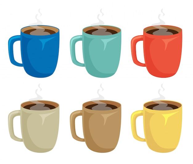 Tasse kaffee eingestellt