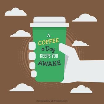 Tasse kaffee zum mitnehmen