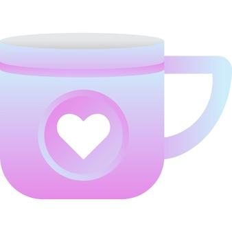 Tasse mit ähnlichem zeichensymbol social-media-vektor