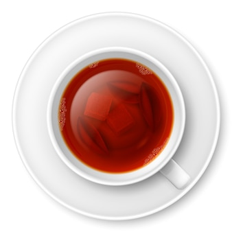 Tasse schwarzen tee