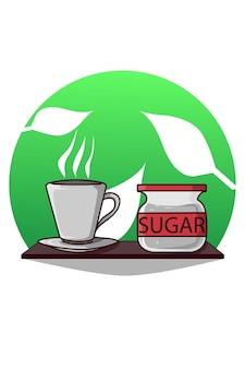 Tasse tee und zucker