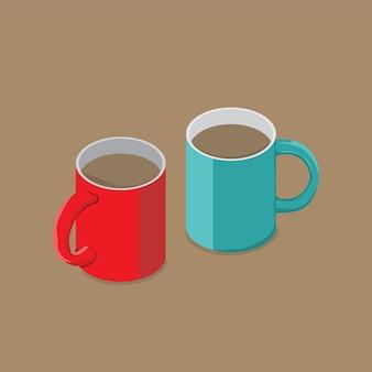 Tasse und tasse grafikdesign zum dekorieren