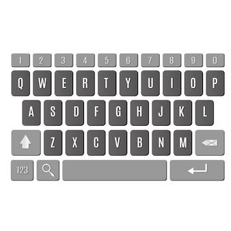 Tastatur des smartphone