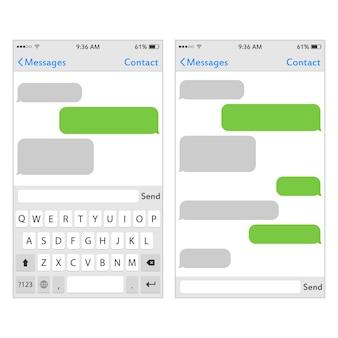 Tastatur für handy mit platz für text