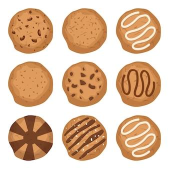 Tasty cookies vektor-design-illustration isoliert auf weiß
