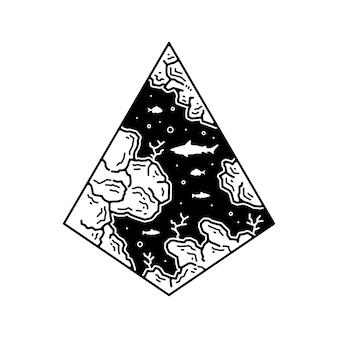 Tatto outdoor monoline abzeichen