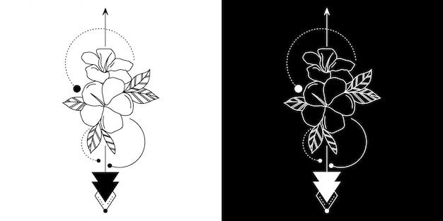 Tattoo geometrische blume