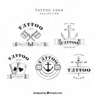 Tattoo logos auswahl, schwarz und weiß