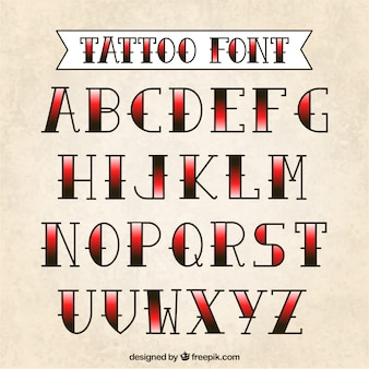 Tattoo typografie