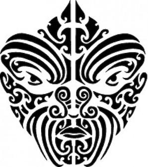 Tattood maori gesicht