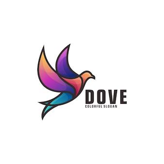 Taubenvogel-logo-vorlage