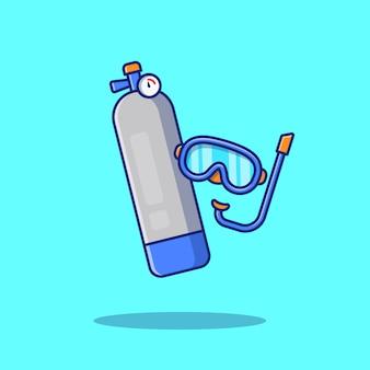 Tauch-symbol-illustration. sport-tauch-symbol-konzept isoliert. flacher cartoon-stil