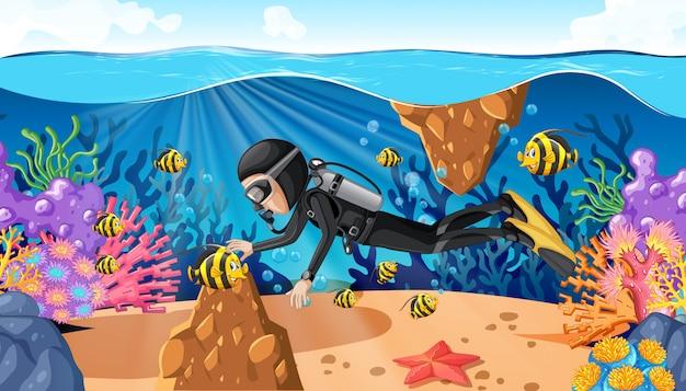 Tauchen im unterwasserozean