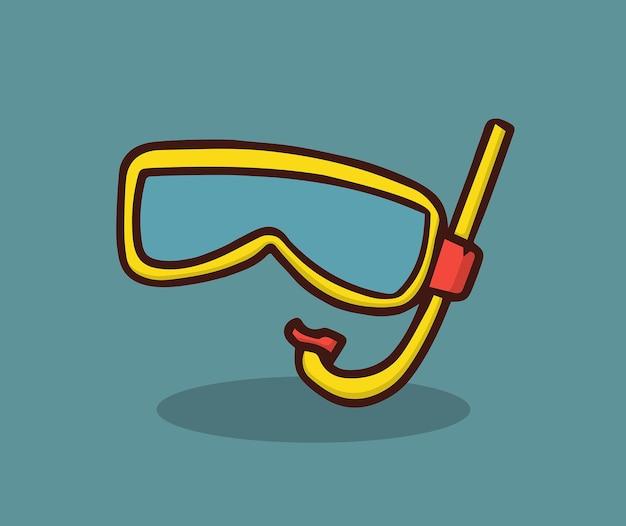 Taucherbrille zum tauchen am meeresstrand