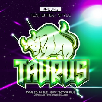 Taurus zodiac text effekte