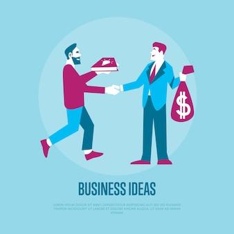 Tauschen sie ideen gegen geld aus