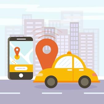 Taxi app design-konzept