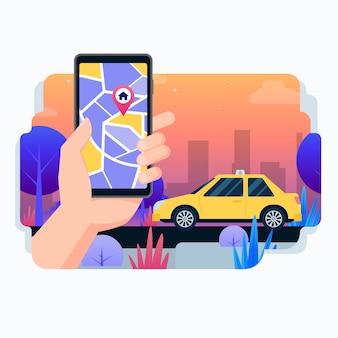 Taxi app design