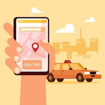 Taxi app konzept