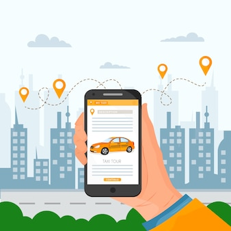 Taxi app schnittstellenkonzept