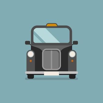 Taxi auto in flachen stil