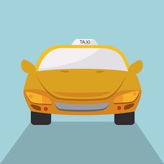 Taxi-design über blauem hintergrund vektor-illustration