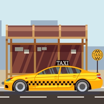 Taxi flaches Plakat