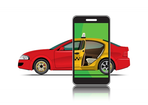 Taxi im smartphone